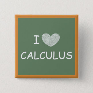 I Love Calculus Pinback Button
