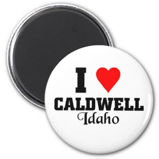 I love Caldwell 2 Inch Round Magnet