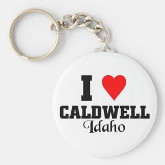 I love Caldwell, Idaho Basic Round Button Keychain