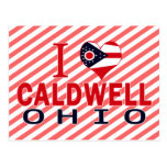 I love Caldwell, Ohio Postcard