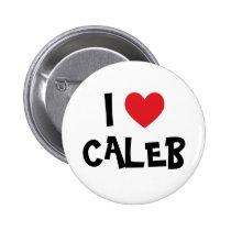I Love Caleb Pin