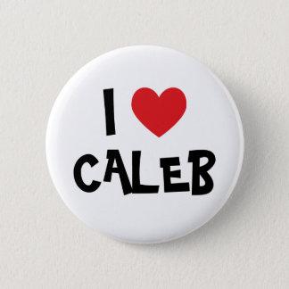 I Love Caleb Pinback Button