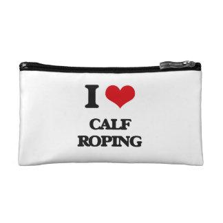 I Love Calf Roping Cosmetic Bags