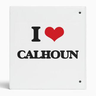 I Love Calhoun Vinyl Binders