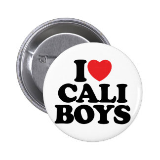 I Love Cali Boys Button