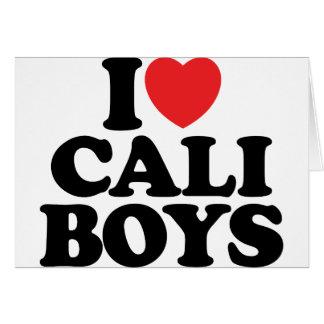 I Love Cali Boys Cards