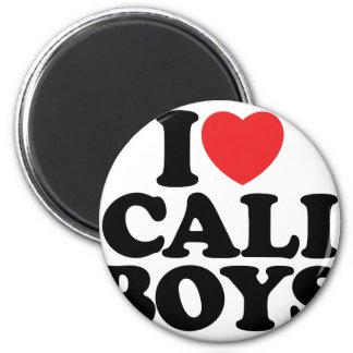 I Love Cali Boys Magnets
