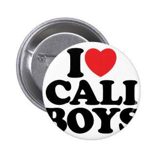 I Love Cali Boys Pinback Buttons