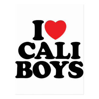 I Love Cali Boys Postcard