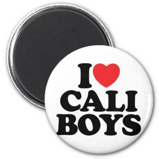 I Love Cali Boys Refrigerator Magnets