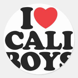 I Love Cali Boys Stickers