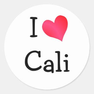 I Love Cali Classic Round Sticker