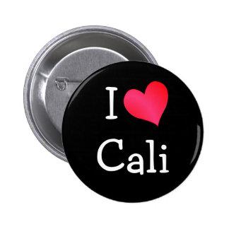 I Love Cali Pinback Button