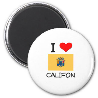 I Love Califon New Jersey 2 Inch Round Magnet