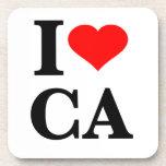 I Love California Beverage Coasters