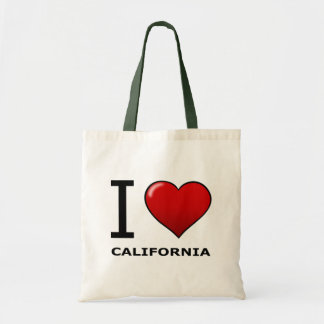 I LOVE CALIFORNIA BUDGET TOTE BAG