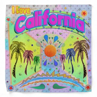 I LOVE California Calm Desire Bandana