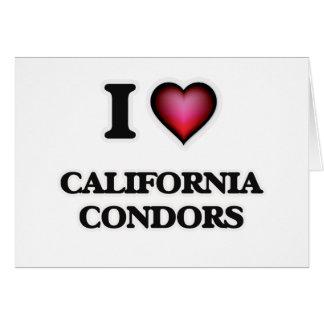 I Love California Condors Card