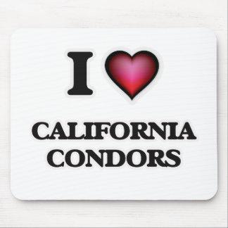 I Love California Condors Mouse Pad
