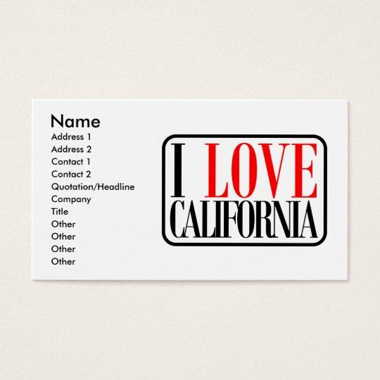 I Love California Design Business Card