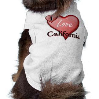 I Love California Dog T Shirt