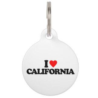 I LOVE CALIFORNIA PET ID TAGS