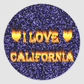 I love california fire and flames sticker