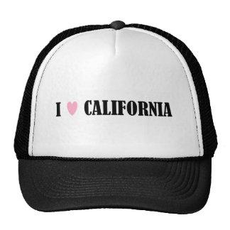 I LOVE CALIFORNIA HAT