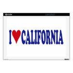 I Love California Laptop Decal