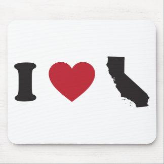 I Love California Mouse Pad