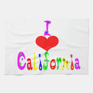 I Love California Multiple products seleted Hand Towel