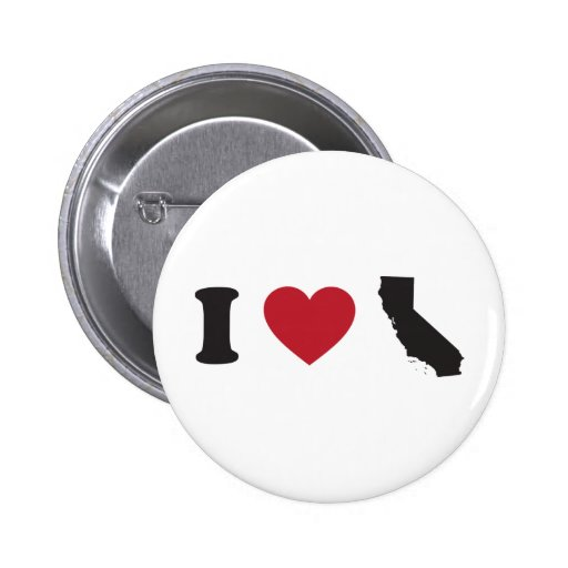 I Love California Pins