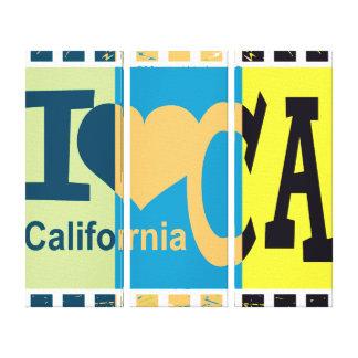 I love California - Pop art Canvas Print