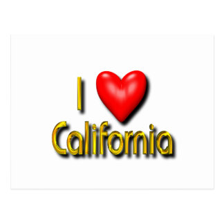 I Love California Postcard