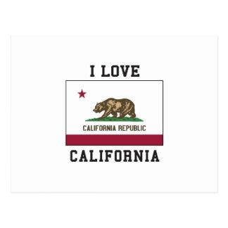 I Love California Postcard