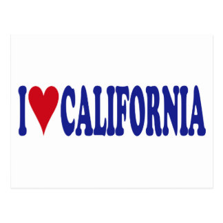 I Love California Post Card