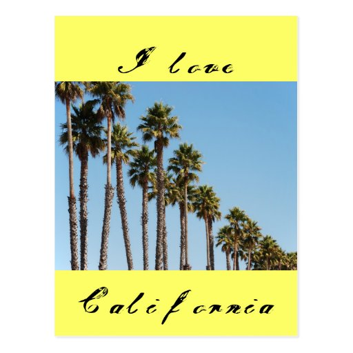I love California Postcards