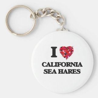 I love California Sea Hares Basic Round Button Keychain