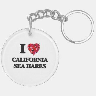 I love California Sea Hares Double-Sided Round Acrylic Keychain