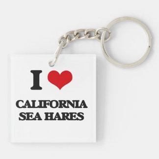 I love California Sea Hares Double-Sided Square Acrylic Keychain