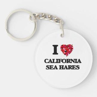 I love California Sea Hares Single-Sided Round Acrylic Keychain