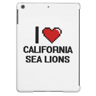 I love California Sea Lions Digital Design iPad Air Covers