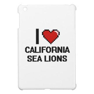 I love California Sea Lions Digital Design iPad Mini Cover