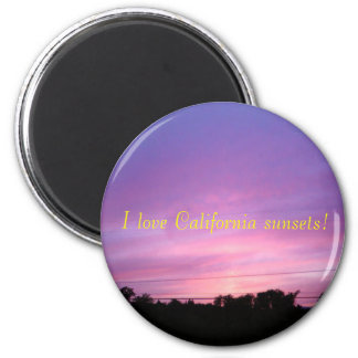 I love California sunsets! magnet