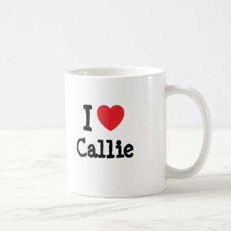 I love Callie heart T-Shirt Coffee Mug