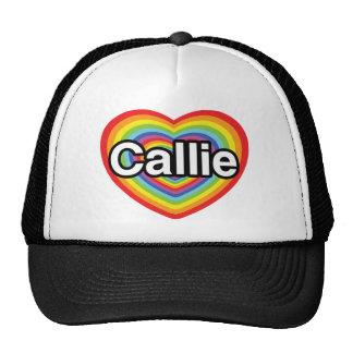 I love Callie: rainbow heart Trucker Hat