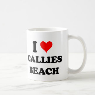 I Love Callies Beach Coffee Mugs