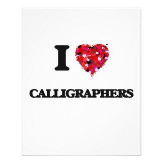 "I love Calligraphers 4.5"" X 5.6"" Flyer"