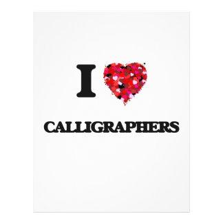 "I love Calligraphers 8.5"" X 11"" Flyer"