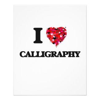 "I love Calligraphy 4.5"" X 5.6"" Flyer"